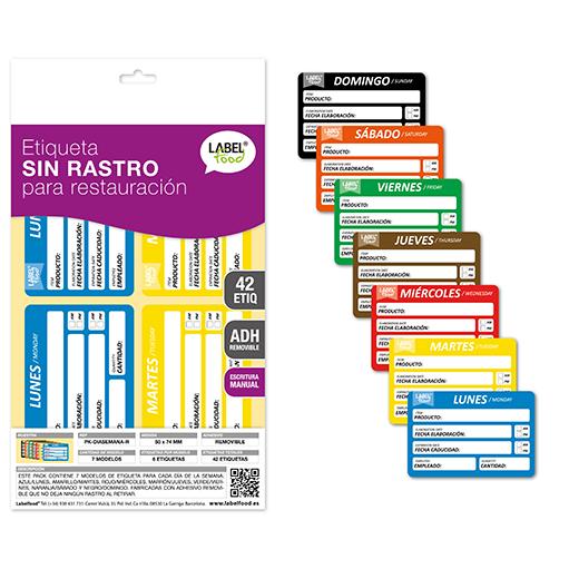catalogos packs etiquetas dias de la semana