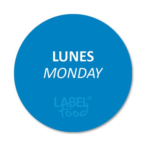 etiquetas impresas lunes