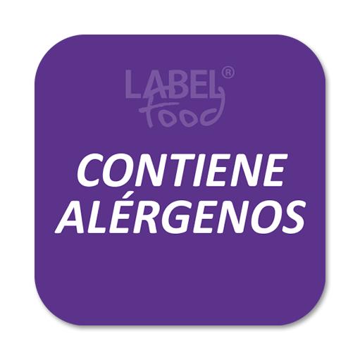 etiquetas impresas alérgenos