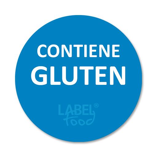 etiquetas impresas contiene gluten
