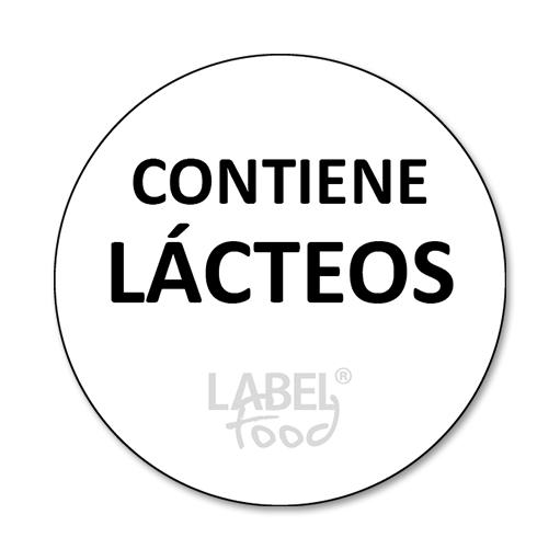 etiquetas impresas contiene lácteos