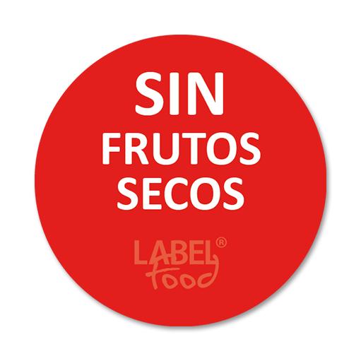 etiquetas impresas sin frutos secos