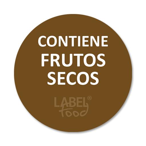 etiquetas impresas contiene frutos secos