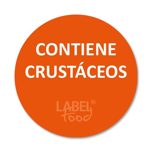etiquetas impresas contiene crustaceos