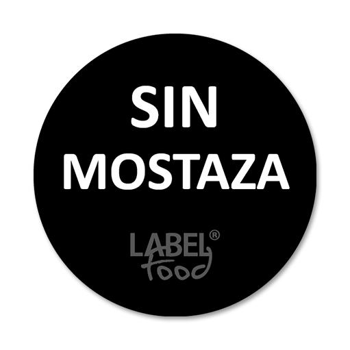 etiquetas impresas sin mostaza