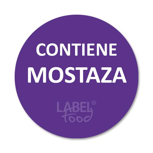 etiquetas impresas contiene mostaza