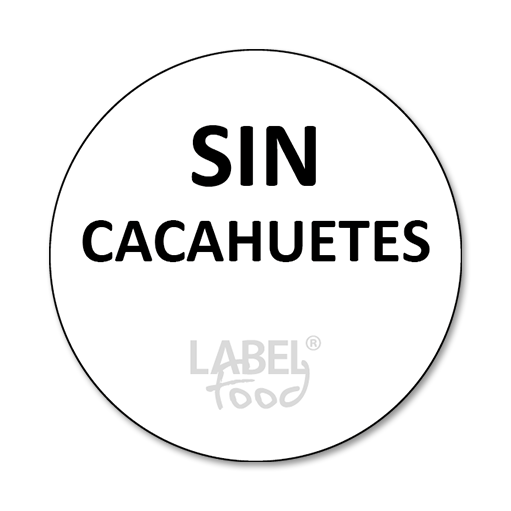 etiquetas impresas sin cacahuetes