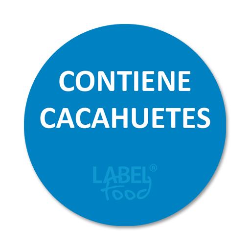 etiquetas impresas contiene cacahuetes
