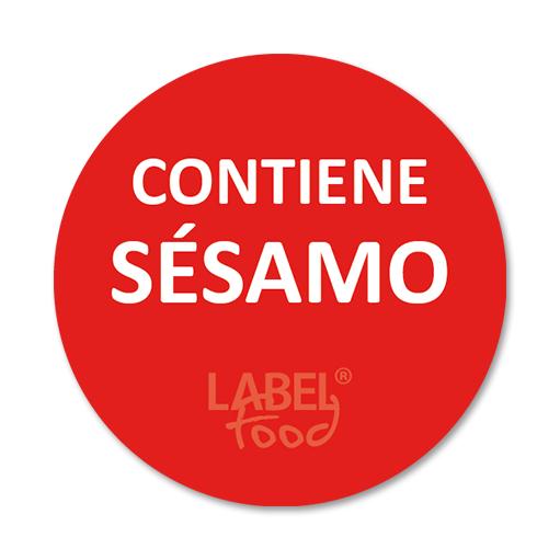 etiquetas impresas contiene sesamo