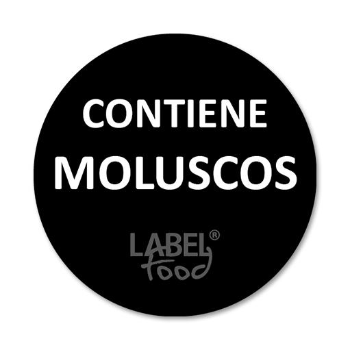 etiquetas impresas contiene moluscos
