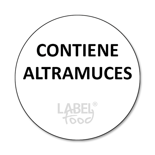 etiquetas impresas contiene altramuces