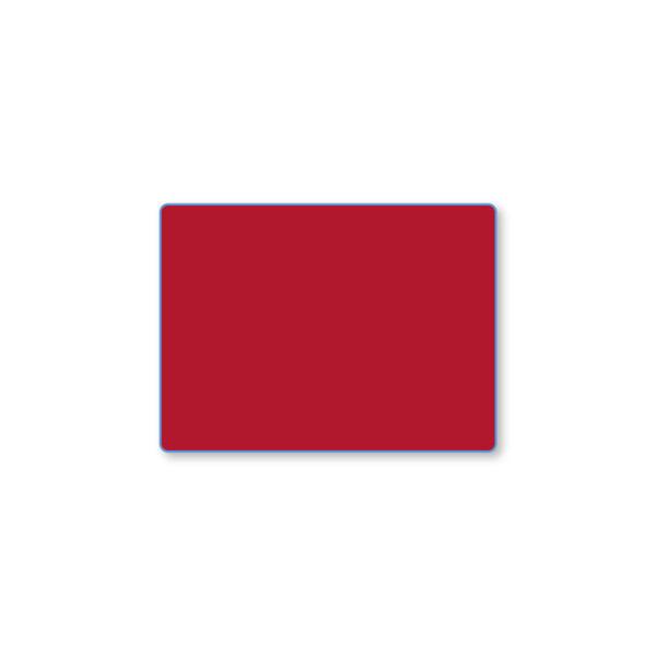 Etiqueta color 57 X 42 Térmico Protegido - Rojo