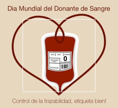 etiquetas para la donación de sangre
