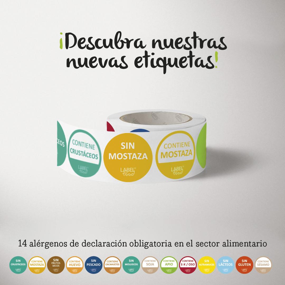 Nuevas etiquetas de alérgenos en Labelfood