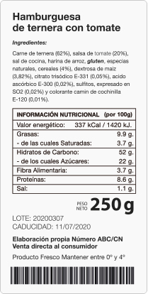 etiquetas alérgenos